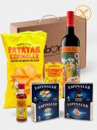 Pack Aperitivo Gourmet con Vermut Castell del Remei, conservas del mar, patatas fritas y aceitunas Espinaler