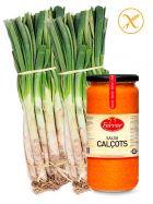 Pack Calçotada, con 50 Calçots de Tarragona y Salsa Ferrer de 645ml.