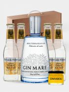 Pack GinTonic Premium - Gin Mare - Fever Tree - Caviaroli