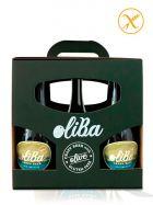Pack de 6 Cervezas Verdes Artesanas de 7 variedades de Olivas - Sin Gluten - 6 x de 33Cl - Oliba Green Beer - The Original One - Valle de Barcedana - Lleida