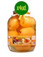 Peras en almíbar - Enteras - Frasco de 2,650Kg. x 4 unidades - La Jalancina