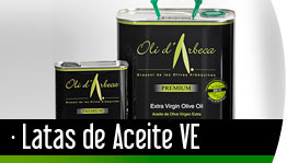 Latas de Aceite de Oliva Virgen Extra