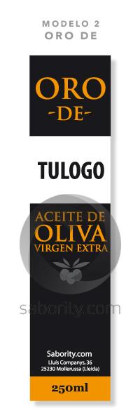 Etiqueta prediseñada de aceite de oliva oro de