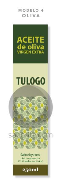 Etiqueta prediseñada de aceite de oliva oliva