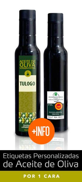 Personalización de Etiquetas de Aceite de Oliva por 1 Cara