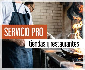 Servicio para profesionales, tiendas y restaurantes