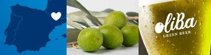 Oliba - cerveza verde artesana de olivas, origen