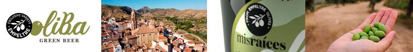Cerveza Oliba Green Beer de aceitunas Empeltre de Aragón