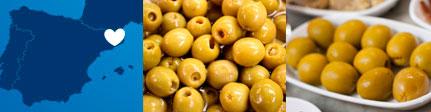 Origen sugerencia de presentación de aceitunas rellenas de anchoa - Espinaler