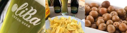 Pack Green aperitivo con cerveza de aceitunas, berberechos, almejas,