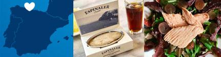 Ventresca de Bonito Espinaler Premium origen y presentación